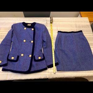 Paule Ka Hand Woven Wool Skirt & Jacket Suit